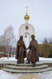 Monument to Peter and Fevronia of Murom in Dmitrov, Russia Stock Photos