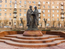 Monument to Peter and Fevronia of Murom. Russia Stock Photography