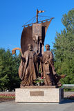 Monument to the Peter and Fevronia, Yekaterinburg Royalty Free Stock Photography