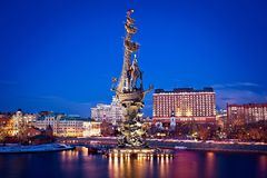Monument to Peter the Great Royalty Free Stock Images