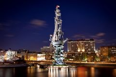 Monument to Peter the Great Stock Photo