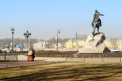 Monument to Peter the Great  (The Bronze Horseman) Stock Photos