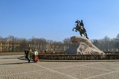Monument to Peter the Great  (The Bronze Horseman) Stock Photo