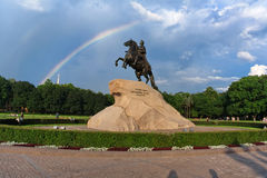 Monument to Peter the Great, known as The Bronze Horseman, St. Petersburg Stock Photo