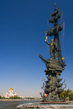 Monument to Peter the Great in Moscow. Stock Photos