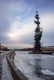 Monument to Peter the Great on the Moscow River, landmark, sculp Royalty Free Stock Photography