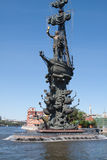 Monument to Peter the Great in Moscow, Russia Stock Photo