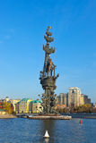 Monument to Peter the Great - Moscow Russia Stock Photo