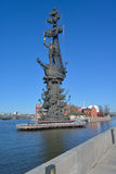 Monument to Peter the Great in Moscow, Russia Royalty Free Stock Photo