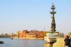 Monument to Peter the Great in Moscow Stock Image