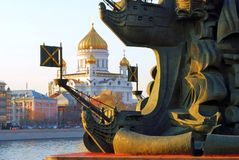 Monument to Peter the Great in Moscow Royalty Free Stock Photography