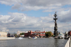 Monument to Peter the Great in Moscow. Stock Photo