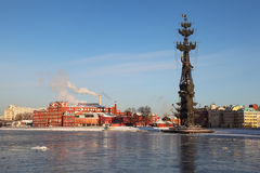 Monument to Peter Great on Moskva river Royalty Free Stock Photo
