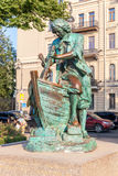 Monument to Peter the Great named King carpenter - the gift to c Stock Photography