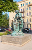 Monument to Peter the Great named King carpenter - the gift to c Stock Image