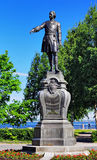 Monument to Peter the Great in Petrozavodsk. Monument to Peter the Great on the embankment of Lake Onega in Petrozavodsk, Russia Royalty Free Stock Photo