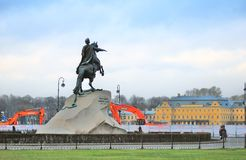 Monument to Peter the Great in Saint-Petersburg, Russia. Royalty Free Stock Photo