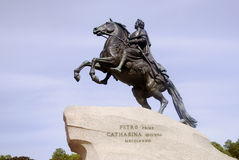 Monument to Peter the Great in Saint-Petersburg, Russia. Royalty Free Stock Photos