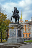 Monument to Peter the Great in Saint Petersburg Stock Photos