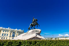 Monument to Peter the Great in St. Petersburg Royalty Free Stock Photo