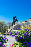 Monument to Peter the Great in St. Petersburg Royalty Free Stock Images