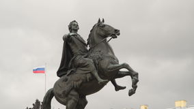 Monument to Peter the Great stock video