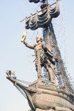 Monument to Peter the Great standing on a ship. Royalty Free Stock Photography
