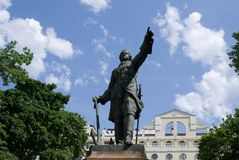 Monument to Peter the Great in Voronezh Royalty Free Stock Images