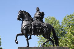 Monument to Peter I on a horse Stock Photo