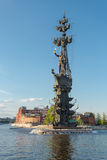 Monument to Peter I in Moscow Stock Photo