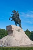 Monument to Peter I in St-Petersburg Stock Images