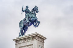 Monument to Philip IV in Madrid, Spain. Stock Photo