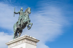 Monument to Philip IV in Madrid, Spain. Royalty Free Stock Photo