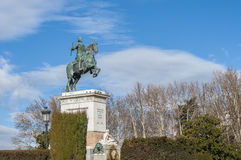 Monument to Philip IV in Madrid, Spain. Royalty Free Stock Images