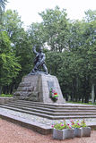Monument to the Pioneer Hero of the Soviet Union Marat Kazei Stock Photos