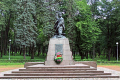 Monument to the Pioneer Hero of the Soviet Union Marat Kazei. MINSK, BELARUS - JULY 15, 2014: Monument to the Pioneer Hero of the Soviet Union Marat Kazei Royalty Free Stock Photos