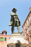 Monument to playwright Carlo Goldoni, Venice Stock Photo