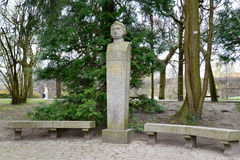 Monument to poet Adam Mickiewicz in Gdansk Oliva, Poland Royalty Free Stock Photos