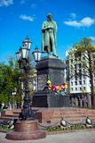 The monument to poet Alexander Pushkin Royalty Free Stock Images