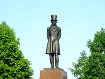 Monument to the poet Alexander Pushkin. Sight pride playwright poems Russia history statue Royalty Free Stock Image