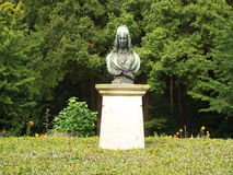 Monument to the poet Annette von Droste Huelshoff. Roxel, Germany 2014 Stock Image
