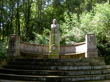 Monument to the poet Freiligrath. Rolandswerth, Germany 2012 Royalty Free Stock Images