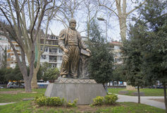 The monument to the poet Fuzuli Muhammad Ibn Sulayman in the district of Bebek. Istanbul Royalty Free Stock Image