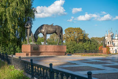 Monument to poet K. N. Batushkov Stock Photo