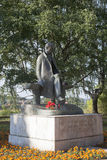 Monument to the poet Nikolay Rubtsov in city Totma Vologda region Royalty Free Stock Photos