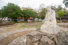 Monument to the poet Peter Yavorov in Pomorie Stock Photos