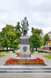 Monument to poet  Pushkin in Kemerovo city Royalty Free Stock Image