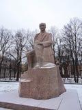 Monument to poet Rainis, Latvia Stock Photos