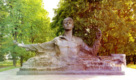 Monument to poet Sergey Yesenin. A monument to poet Sergey Yesenin in Ryazan in Russia Royalty Free Stock Photos