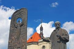 Monument to the poet Taras Shevchenko, Lviv, Ukraine Stock Photos
